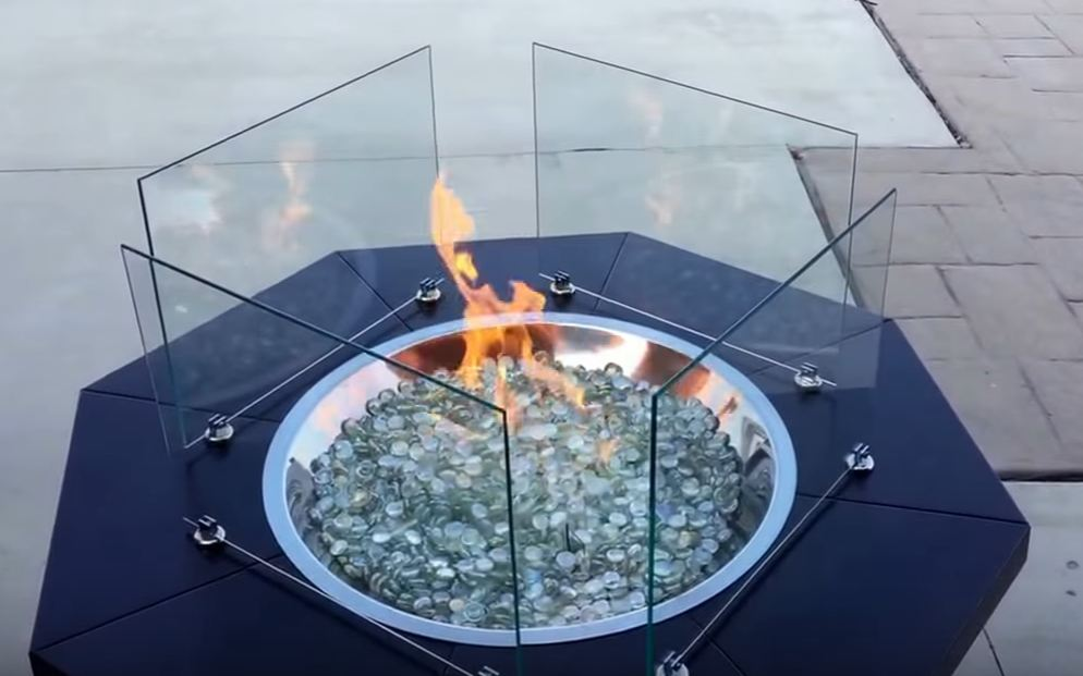 best fire pit glass