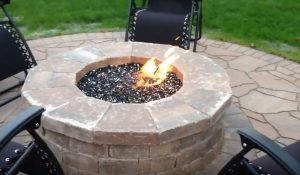 fire pit glass cylinder