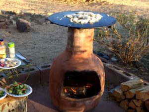 chiminea with bbq grill