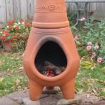 clay chiminea lowes