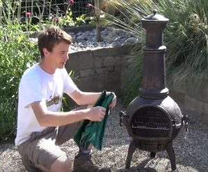 metal chiminea home depot