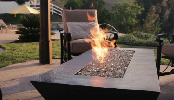 backyard fire pit gas