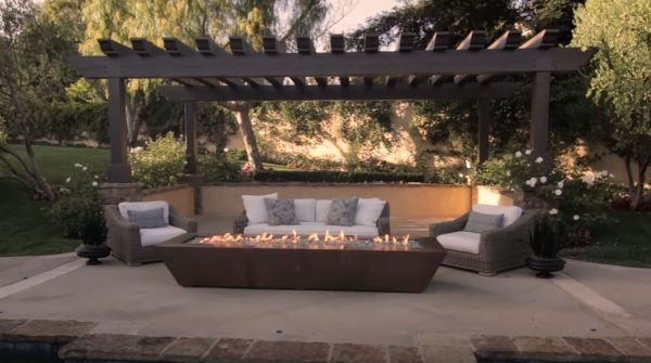 backyard fire pit seating