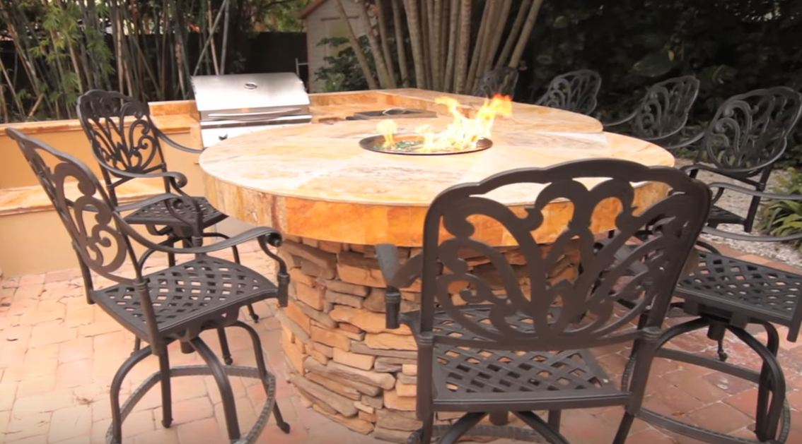 cheap fire pit table
