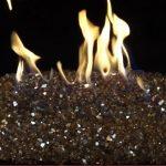 fire pit glass black