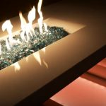 fire pit glass circular top