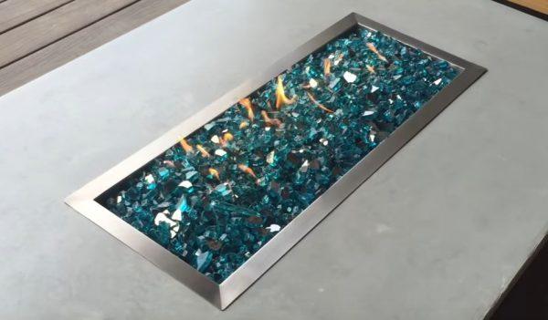 fire pit glass mix colors