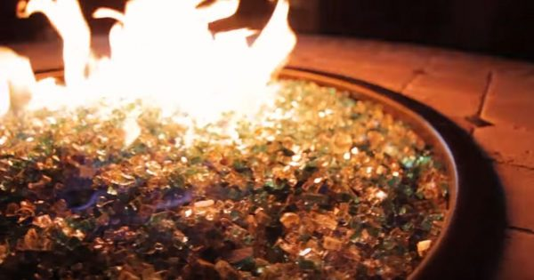fire pit glass vs lava rock