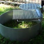 fire pit insert with cooking grate