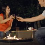 fire pit table set with chairs