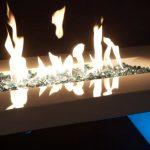 fireglass fireplace fire pit glass