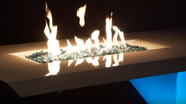 fireglass fireplace fire pit glass