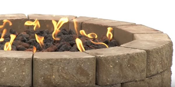 gas fire pit ring