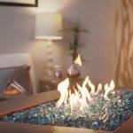 gas fire pit glass