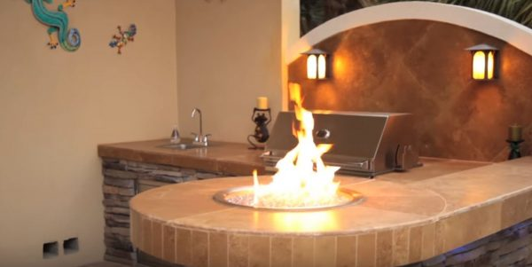 natural gas fire pit table kit