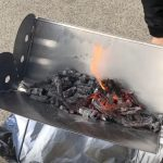 portable fire pit with grill