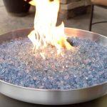 propane fire pit glass