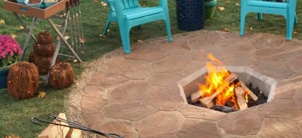 stone fire pit outdoor