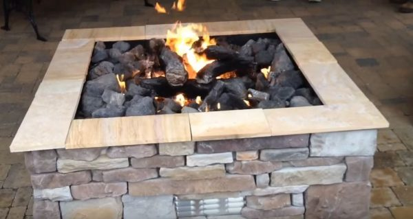 stone fire pits outdoor