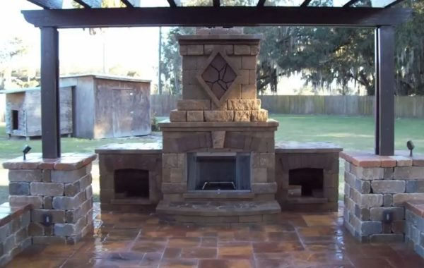 build outside fireplace