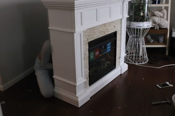 fake fireplace diy