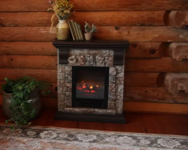 fake fireplace heater