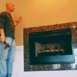 fake log fireplace