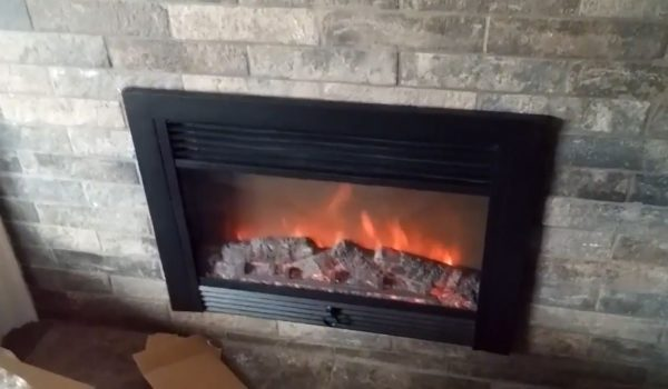 fireplace fake