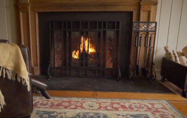 fireplace screens cheap
