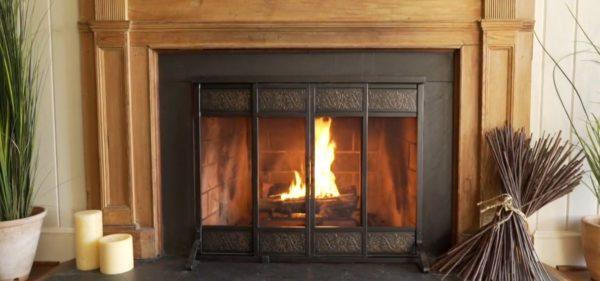 fireplace screens target