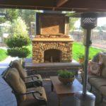 gas fireplace outside