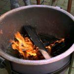 homemade fire pit burner