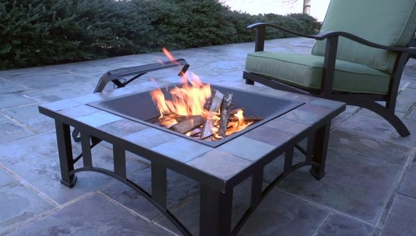 homemade fire pit grill