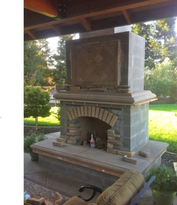 how to build an outside fireplace