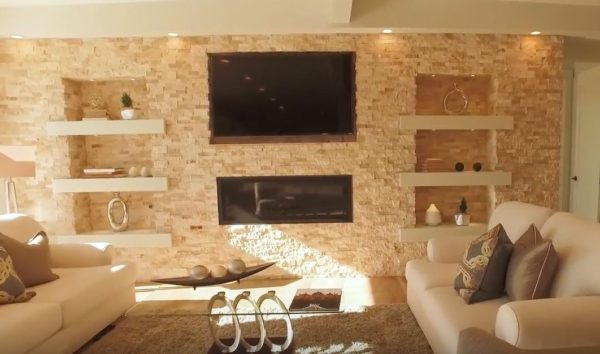 in wall fireplace