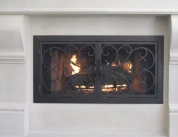 iron fireplace doors