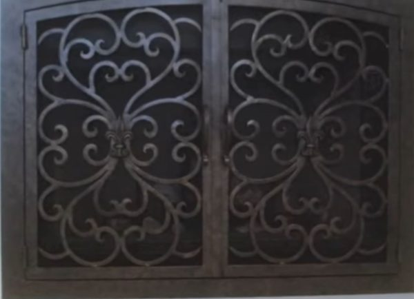 lowes fireplace doors