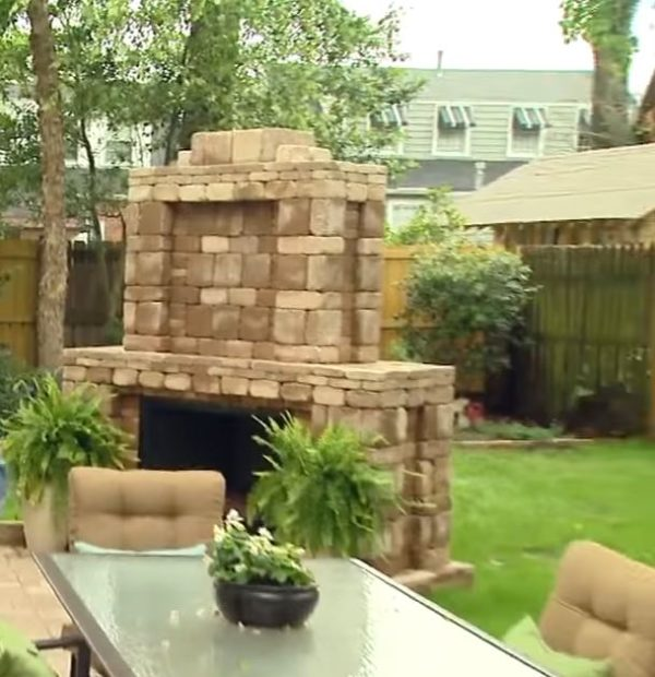 outdoor fireplace kits lowes