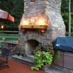 outdoor gas fireplace