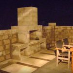 outdoor wood fireplace kits
