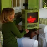 portable electric fireplace heater