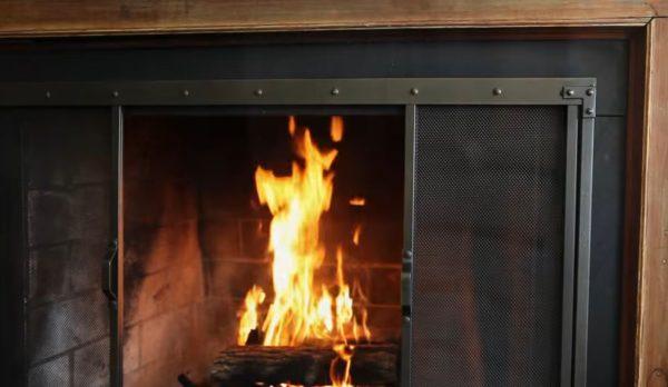 rustic fireplace screens