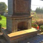 stone outside fireplace