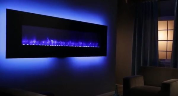 wall mount fireplace