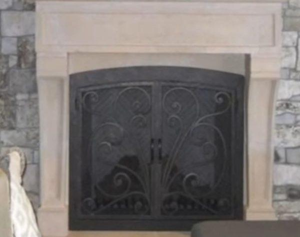 wood fireplace doors